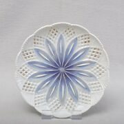 Meissen Neo Gothic Plate/ Wall Plate, 7 5/16in, Blue, Gold, Rarely, Um 1820