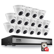 Zosi 8ch 4k H.265 Home Security Camera System With 2tb Hdd 8 Channel Dvr 8mp Kit