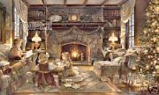 Trisha Romance Christmas At The Cottage Sold Out Giclee Canvas