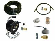 Sewer Jetter Cleaner Kit - Ball Valve 100and039 X 1/4 Hose Reel And Nozzles