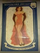 Original 1940s Meyercord Pinup Sexy Risque Pin Up Decal In Orig Package 875-d
