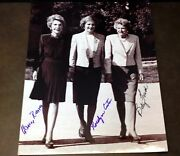 Nancy Reagan Betty Ford Rosalynn Carter Signed 8x10 Photo Unique One Of A Kind