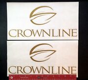 2 Two Crownline Boats Marine Decals 12 - New