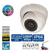 8pcs Hd 4-in-1 1080p 2mp Motorized Zoom Lens 2.8-12mm Sony Exmor Ir Dome Camera