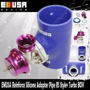 Emusa Blue 3 Reinforce Silicone Adapter Type Rs Pipe+turbo Bov Blow Off Valve