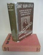 The Fun Of It By Amelia Earhart 1932 1st Ptg In Dj With Record Illustrated