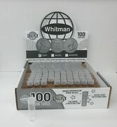 500 He Harris Whitman Penny Cent Round Clear Plastic Coin Tubes Screw Top