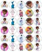 30x Doc Mcstuffins Cupcake Toppers Edible Wafer Paper Fairy Cake Toppers