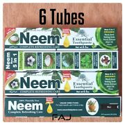 6 Tube Neem Toothpaste 5 In 1 Essential Palace 100 Fluoride Freevegetable Base