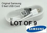 Lot Of 9 Original Oem 5 Feet Samsung Galaxy S3 S4 S6 Edge Note 4 Usb Sync Cable