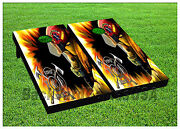 Vinyl Wraps Cornhole Boards Decals Fire Dept In Action Bagtoss Game Stickers 597