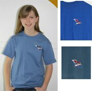 Navion Antique Aircraft Embroidered T-shirt Ryan Low Wing