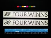 2 Two Four Winns Boats Marine Hq Decals 12 - Silver Metallic + More