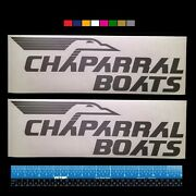 2 Two Vintage Chaparral Boats Marine Hq Decals 12 - Silver Metallic + More