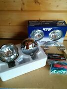 Bmw Mini Spot Lights Driving Lamps Brushed Steel Like Chrome Wipac S6066 Rp £100