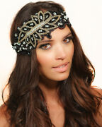Kristin Perry 1920's Inspired Great Gatsby Flapper Lace Headpiece