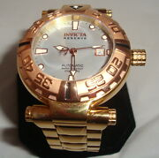 Mens Reserve Subaqua Watch Limited Edition Water Resistant 500m Mop Face