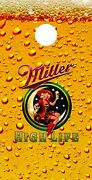 Corn Hole Graphic - Miller High Life With Lady In The Moon Beer Glass