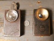 2 Contact Metal Flashlights Torches Palaba And Hawe -wwii- Army S13130