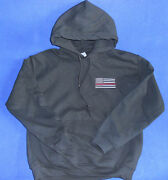 Thin Red Line Hoodie Support Firefighters And Police Thin Blue Line Usa Flag