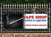 Outdoor Vape Shop Quality Banner Sign Advert Free Art Work Ready To Display
