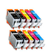 10 Pack New Ink Set Fits Canon Pgi-5 Cli-8 Pixma Mp610 Mp800 Mp810 Mp830 Mx850