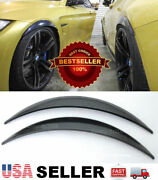 1 Pair Abs Black 1 Arch Extension Diffuser Wide Fender Flares For Vw Porsche
