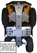 Ricochet 11 Pc Complete Skid Plate Set 2015-19 Can-am Outlander 6x6/dps