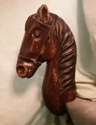 Childrenand039s Antique Barber Chair Horse Head Wood