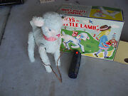 Rare 1950s Alps Japan Battery Operated Maryand039s Little Lamb Toy Mint In Box