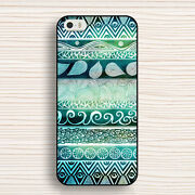 Green Tribal Leaves Aztec Protective Cover Phone Case For Phone 33xt7