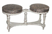 Distressed Painted Swedish Banquette Bench Manner Of Maison Jansen 101-1232
