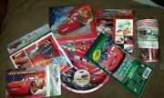 New Disney Pixar World Of Cars 8 Piece Party Plates, Loot Bags, Cups And Napkins