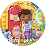 Doc Mcstuffins Disney Personalised Cake Topper Edible Wafer Paper 7.5