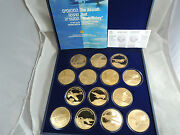 Israel Airplanes That Made History By E. Weishoff 14 Medals 50mm Bronze