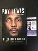 Ray Lewis I Feel Like Going On Life Game And Glory Autographed Book Jsa Coa