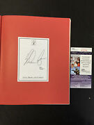 Nolan Ryan Beef And Barbecue Cookbook Autographed Book Jsa Coa