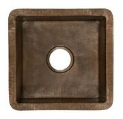 Native Trails Cps234 Antique Copper Cantina 15 Single Basin Undermount Bar Sink