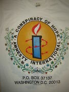 Vintage Concert T-shirt U2 Sting Lou Reed Pete Townsend Amnesty Never Worn