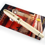 Conway Stewart 100 Series Cream Casein W/gold Trim Fountain Pen - Fine Nib