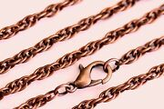 Antique Copper Rope Chain Plated Wholesale Lots Necklace Bulk Us Seller 18-30 In