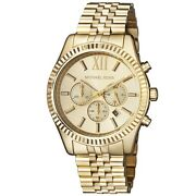 New Lexington Gold Stainless Steel Chronograph Mk8281 Menand039s Watch
