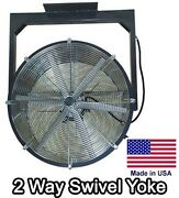 24 Ceiling Fan - 5200 Cfm - 115v - 1/4 Hp - 2 Way - 2 Blade - Totally Enclosed