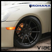 19 Rohana Rfx2 Black Forged Concave Wheels Rims Fits Infiniti G35 Coupe