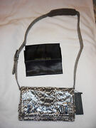 Sold Out Rachel Zoe Snake Skin Bag Shoulder Purse Clutch Nwt . Discontinued
