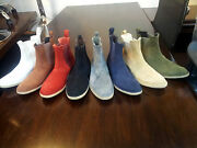 New Handmade Mens Chelsea Suede Leather Boots Lot 8 Pairs Size Us 7