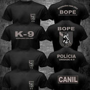 New Brazil Swat Bope Special Forces Police K-9 Dog Canine Canil Unit T-shirt