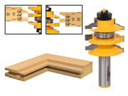 Ogee Stacked Rail And Stile Router Bit - 1/2 Shank - Yonico 12121