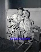 Charlie Mccarthy Film Photo Signed Jerry Maren Here We Go Again Ventriloquist