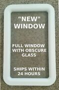 New White Trailer Camper Motorhome Rv Entry Entrance Door Replacement Window